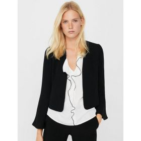 MANGO Black Casual Front Open Smart Blazer